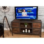 54 Inch Natural Wood TV Stand with Drawers – Brixton