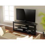 55 Inch Piano Black TV Stand – Maxine
