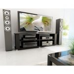 58 Inch Contemporary Black TV Stand – Fillmore