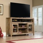 59 Inch Rustic Oak TV Stand – Dakota Pass
