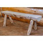 6′ Half Log Bench – Montana