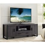 60 Inch Contemporary Charcoal TV Stand