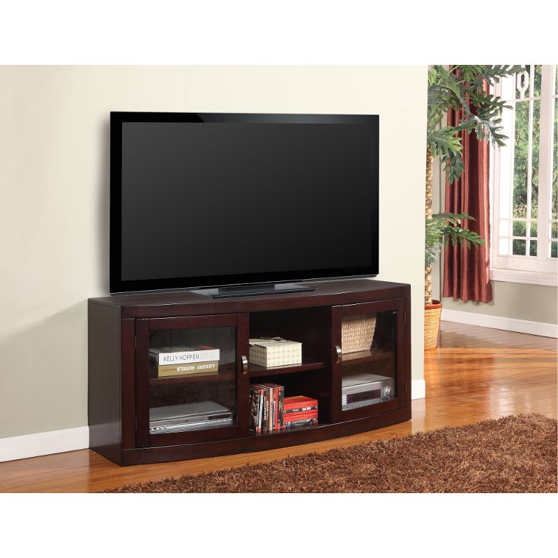 42357c05fbd4 With its transitional style and clean lines, this merlot brown 60 inch TV  stand from RC Willey is sure to look fantastic in any room in your home.
