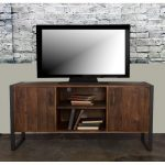 60 Inch Modern Industrial Wood TV Stand – Brixton