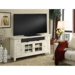 62 Inch Modern Country White TV Stand – Tidewater