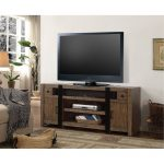 63 Inch Weathered Pine TV Stand – Tribeca