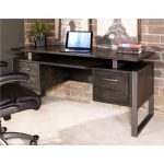 64 Inch Charcoal Modern Office Desk – Mar Vista