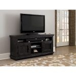 64 Inch Distressed Black TV Stand – Willow