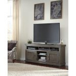 64 Inch Distressed Gray TV Stand – Willow