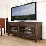64 Inch Rustic Walnut TV Stand – New Castle