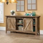 65 Inch Rustic Oak TV Stand – Dakota Pass