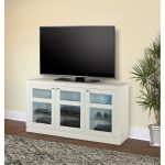 65 Inch White TV Stand – Skyline