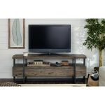 66 Inch Rustic Brown TV Stand – Modern Timber