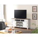 68 Inch White TV Stand – Camden