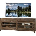 74 Inch Burnished Walnut Brown TV Stand – St. Croix