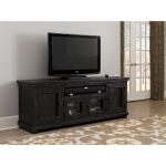 74 Inch Distressed Black TV Stand – Willow