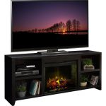 76 Inch Mocha Fireplace and TV Stand