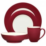 Noritake Colorwave Raspberry 4-Piece Rim Place Setting-Sample