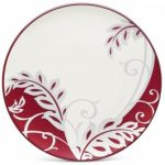 Noritake Colorwave Raspberry Accent/Luncheon Plate-Plume, 8 1/4″