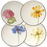 Noritake Colorwave Chocolate Plates-Floral Appetizer, Set of 4, 6 1/4″