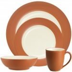 Noritake Colorwave Terra Cotta 4-Piece Rim Place Setting