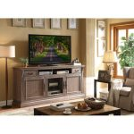 84 Inch Distressed Ceruse TV Stand – Estancia