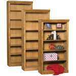 84 Inch Rustic Oak Bookcase