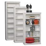 84 Inch White Contemporary Bookcase