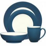 Noritake Colorwave Blue 4-Piece Rim Place Setting-Sample