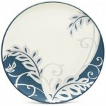 Noritake Colorwave Blue Accent/Luncheon Plate-Plume, 8 1/4″