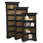 88 Inch Transitional Black Bookcase