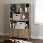 9-Cube Oak Storage Bookcase – Expoz