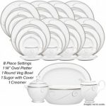 Noritake Platinum Wave 45-Piece Set