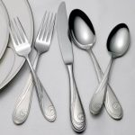 Platinum Wave Flatware 5-Piece Place Setting