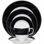 Noritake Platinum Wave Ebony 5-Piece Place Setting