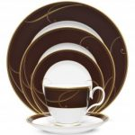 Noritake Golden Wave Chocolate 5-Piece Place Setting