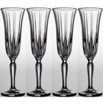 Noritake Vendome Platinum Champagne Flute, 5 oz, Set of 4