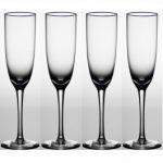 Noritake Palais Platinum Champagne Flute, 6 oz, Set of 4