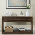 Acacia Brown Sofa or Hallway Table – Modern Gathering