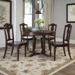 Aged Bourbon 5-Piece Round Dining Set – Country Comfort