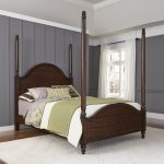 Aged Bourbon Poster Queen Size Bed – Country Comfort