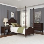 Aged Bourbon Twin Poster Bed, Nightstand, Chest – Country Comfort