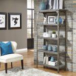 Aged Metal 5-Tier Shelf