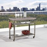 Aged Metal/Wine Concrete Kitchen Cart
