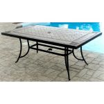 Agio 40 Inch x 72 Inch Outdoor Patio Porcelain Table – Willowbrook