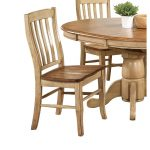 Almond and Wheat Rack Back Dining Room Chair – Quails Run Collection