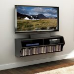 Altus Black Wall Mounted A/V Console