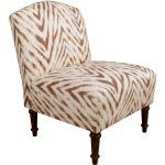 Amir Met Harissa Camel Back Armless Chair
