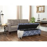 Annabelle Blue & White Paisley Storage Bench – Berkley