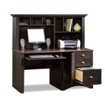 Antique Black Computer Desk with Hutch – Harbor View